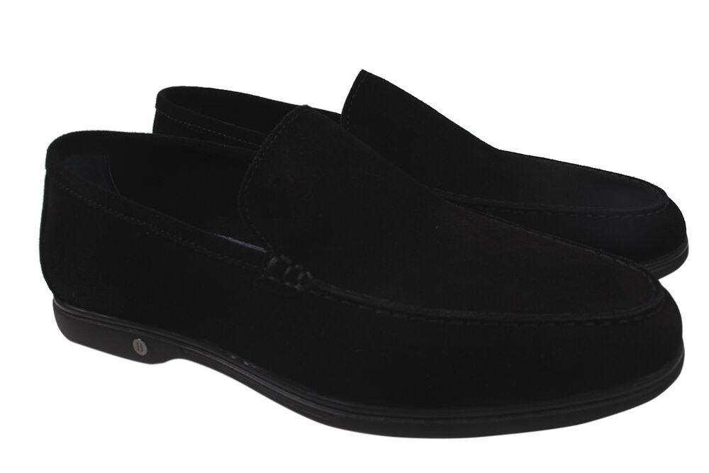 Туфлі лофери чоловічі Brooman Натуральна замша, колір чорний