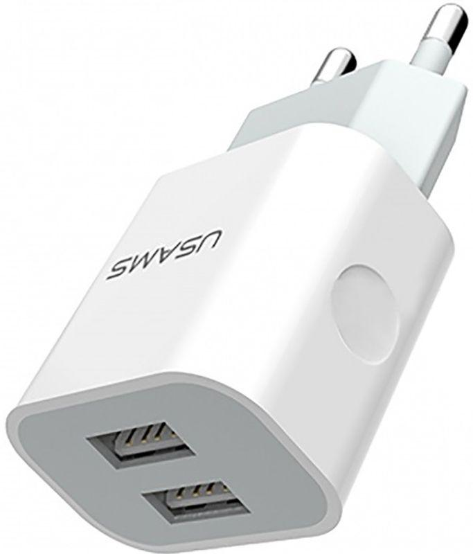 Адаптер сетевой USAMS US-CC023  2USB, 2.4A 