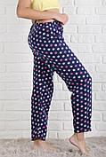 Жіночі домашні піжамні флісові штани різні кольори М-3XL (P-104)