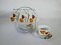 Чайный сервиз на стойке 12 предм 7445 Маки