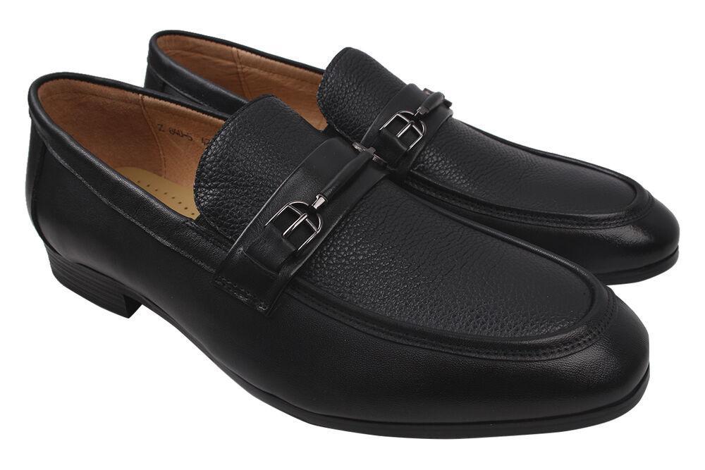 Туфли лоферы мужские Sergio Billini натуральная кожа, цвет черный