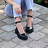 Шкіряні жіночі туфлі натуральна шкіра шлейка на товстій підошві 36-23,5 37-24 38-24,5 39-25 40-25,5 см, фото 4