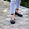 Шкіряні жіночі туфлі натуральна шкіра шлейка на товстій підошві 36-23,5 37-24 38-24,5 39-25 40-25,5 см, фото 6