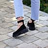Замшевые женские туфли натуральная замша на шлейке на утолщенной подошве 36-23,5 37-24 38-24,5 39-25 40-25,5см, фото 6