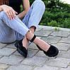 Замшевые женские туфли натуральная замша на шлейке на утолщенной подошве 36-23,5 37-24 38-24,5 39-25 40-25,5см, фото 7