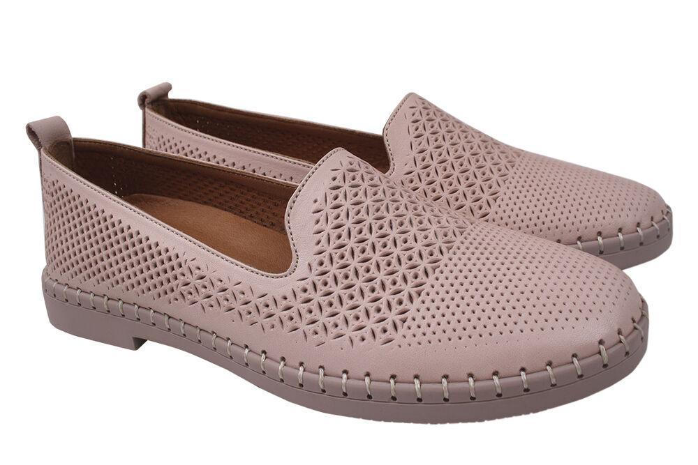 Туфли женские Gossi натуральная кожа, цвет розовый