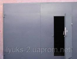 Гаражные распашные ворота 2.0мм с рамой