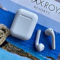 Беспроводные наушники inpods 12 белые сенсорные с микрофоном