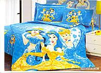 """Постельное белье """"Arya"""" Princess blue сатин детский 160х220"""