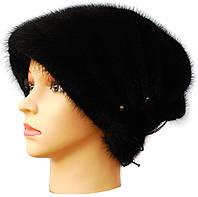 """норковая шапка  """"Бритни """" цвет черный"""