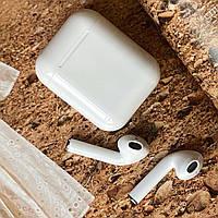Беспроводные сенсорные блютуз наушники i12 tws белые c микрофоном