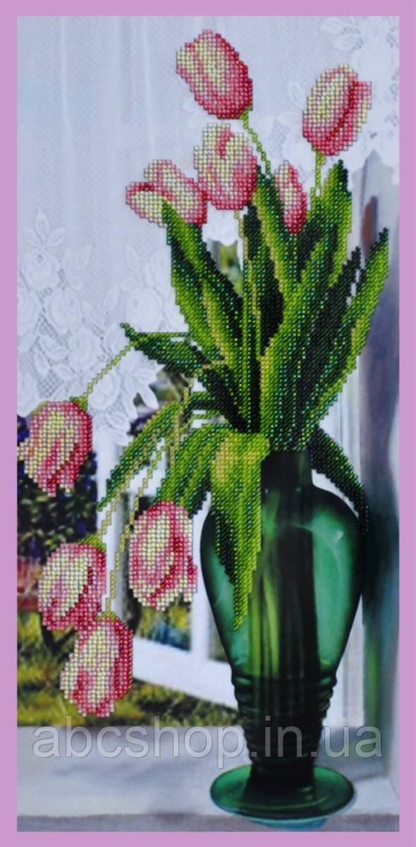 Набір для вишивки бісером на вікні Тюльпани