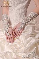 Свадебные перчатки код 64