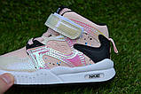 Детские демисезонные хайтопы высокие кроссовки Nike найк розовые для девочки р26-31, фото 6
