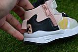 Детские демисезонные хайтопы высокие кроссовки Nike найк розовые для девочки р26-31, фото 8