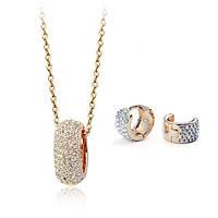 Комплект ювелірна біжутерія золото 18К декор кристали Swarovski