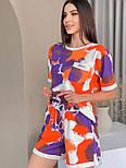 Яркий женский спортивный костюм с шортами в расцветках (Норма и батал), фото 4
