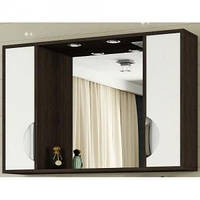"""Зеркало для ванной комнаты с подсветкой и 2 пеналами """" Принц"""" 11-90 см венге"""