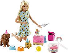 Игровой набор Барби Вечеринка для щенков GXV75