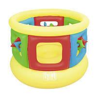 Детский игровой яркий надувной батут-манеж для детей от 3-х лет Bestway 52056 (размер 152*107 см)