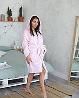 Нежный женский махровый короткий халат, фото 1
