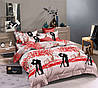 Двуспальный комплект постельного белья евро 200*220 ранфорс  (16475) TM KRISPOL Украина