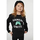 Кофты лонгсливы H&M Gamers Unite на мальчика (набор) р.122/128 - 6-8 лет, фото 2