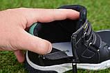 Демисезонные ботинки детские на липучке для мальчика черные р27-32, фото 2