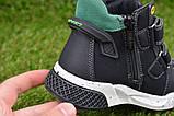 Демисезонные ботинки детские на липучке для мальчика черные р27-32, фото 4
