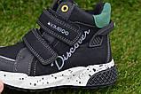 Демисезонные ботинки детские на липучке для мальчика черные р27-32, фото 5