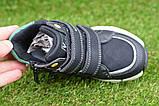 Демисезонные ботинки детские на липучке для мальчика черные р27-32, фото 8