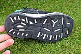 Демисезонные ботинки детские на липучке для мальчика черные р27-32, фото 6