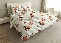 Двуспальный комплект постельного белья евро 200*220 сатин (16825) TM КРИСПОЛ Украина