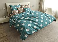 Двуспальный комплект постельного белья евро 200*220 ранфорс  (17002) TM KRISPOL Украина