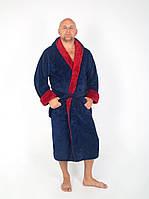 Махровий чоловічий халат з капюшоном, фото 1