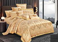 Двуспальный комплект постельного белья 180*220 жаккард сатин (17577) TM КРИСПОЛ Украина