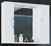 """Зеркало для ванной комнаты с подсветкой и 2 пеналами """"Принц""""11-90 см белое( левое и правое)"""