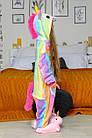 Дитячі кигуруми піжама єдиноріг райдужний для дітей Funny Mood 140 см, фото 2