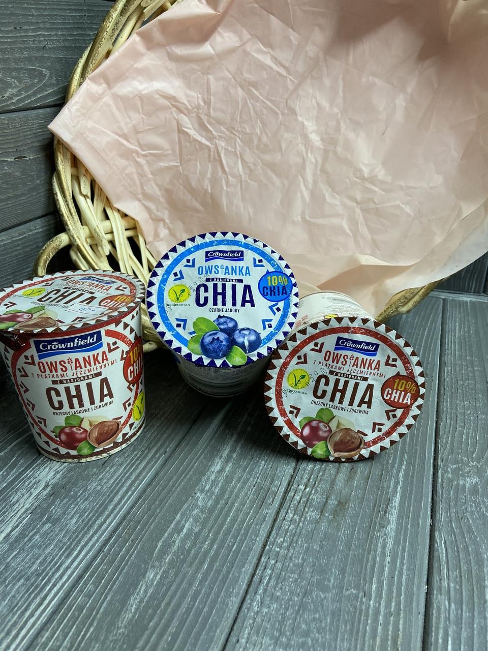 Вівсянка з чіа в асортименті Crownfield owsianka z nasionami chia