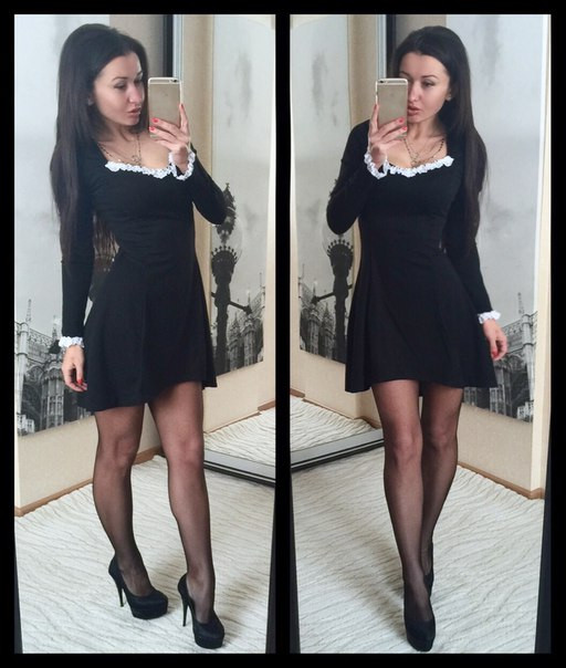 Платье Астра с кружевной отделкой