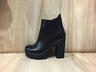 Женские ботинки Кожа осень
