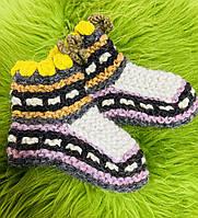 Гуцульські Шкарпетки з овечої шерсті короткі (носки овечья шерсть)