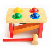 """Деревянная игрушка """"Стучалка - горка """"Шарики"""" арт. 142"""