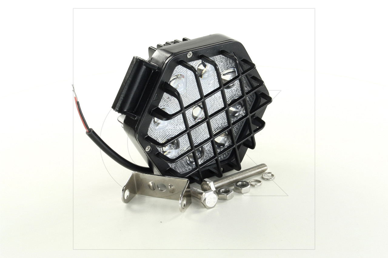 Фара LED шестиугольная 27W, 9 ламп, узкий луч