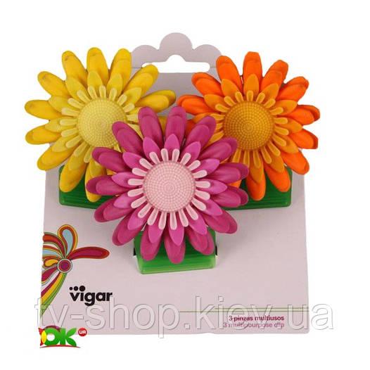 Набор зажимов на магнитах Vigar Flower Power 3 предмета