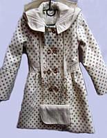 """Нарядное пальто для девочки """"Горошек"""""""