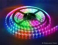 Светодиодная лента Lemanso RGB 5050  30Led силик. LM 536R