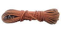 Веревка капроновая  ø 6 мм х 25 м. в мотке (шнур плетеный кордовый)