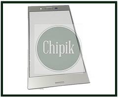 Стекло для переклейки дисплея Sony Xperia XZ F8332, F8331, серебро