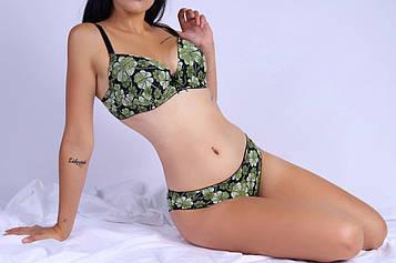 Комплект жіночої білизни зелений код П332